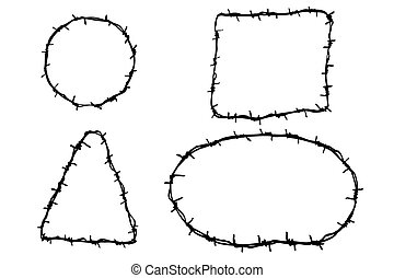 four Barbed Wire