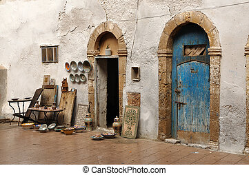 Pottery store in Essaouria, Morocco Africa