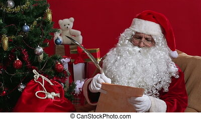 Impossible Wish - Santa reading a list of wishes and...