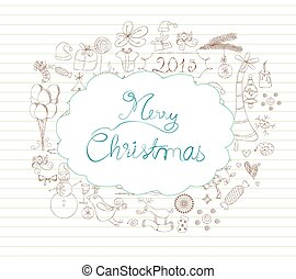 christmas scrapbook element