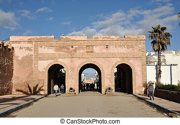 Gate to the Medina of Essaouria, Morocco
