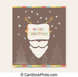 christmas card retro