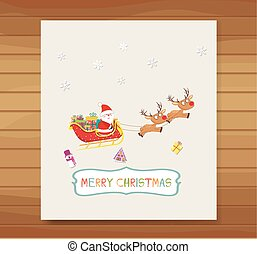 Santa Claus in a sleigh card