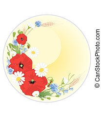 wildflower greeting card - an illustration of a wildflower...