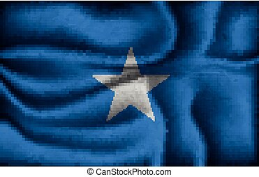 crumpled flag of Somalia on a light background