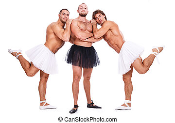 Handsome guys - Show, striptease. Handsome guys with sexy...