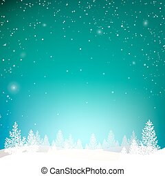 Winter background. - Winter background with forest in snow...