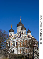 Aleksandr Nevsky russian orthodox cathedral in Tallinn,...