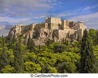 Acropolis, Athens, Greece - Parthenon temple on the...
