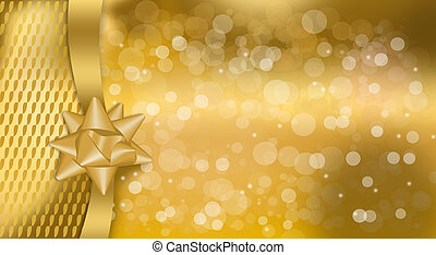 Gold Gift Coupon - An abstract illustration on Christmas...