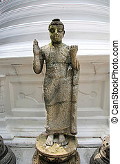Statue Gangaramaya Temple Colombo - a buddhist statue of the...