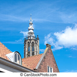 church in the netherlands - view on the Onze lieve...