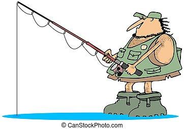 neandertal, pescador