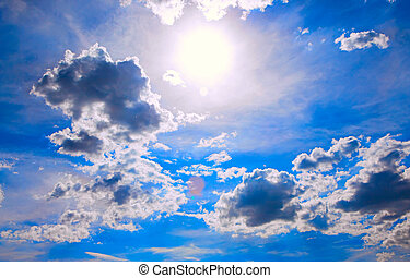 colorful sky and sun background