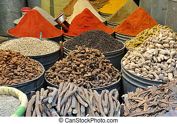 Spices for sale in the Medina of Fes, Morocco