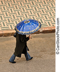 Rainy day in Fes, Morocco