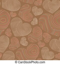 abstract seamless pattern with hand-drawn hearts