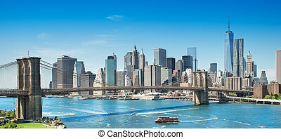 new york - picture of the skyline of new york