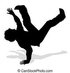 hip hop - silhouette of dancer hip hop