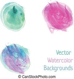 Watercolor splash spots