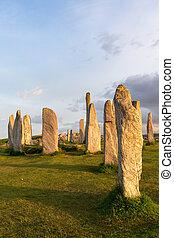 Hebrides stone circle - Megalithic stone circle of 3000 bc...