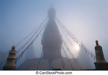 Swayambhunath Stupa, Nepal - Swayambhunath Stupa, known as...