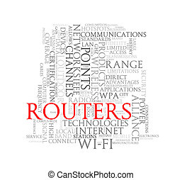 Word tags wordcloud of routers