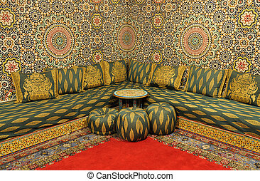 Interior of an oriental decorated room