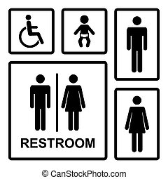 Vector restroom icons set