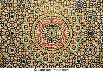 Oriental mosaic decoration in Morocco