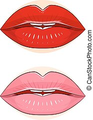 Make-up. Lips with pomade. Lips with pomade. Eps10 vector...