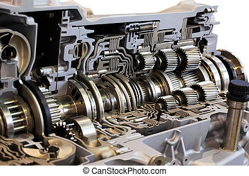 transmission - Automotive transmission gearbox with lots of...