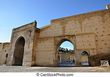 Medieval city gate Bab el Mahrouk in Fes, Morocco