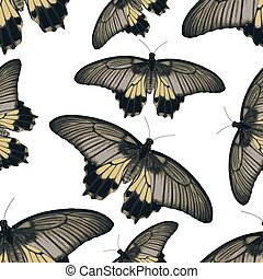 colorful simple vector butterflies seamless pattern eps10