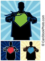 Superhero Under Cover 2 - Silhouette of superhero under...