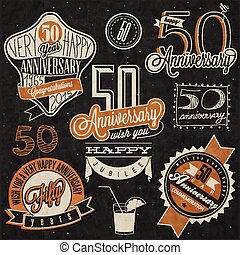 Vintage style 50 anniversary collec - Fifty anniversary...