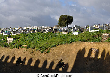 Old graveyard in Fes, Morocco