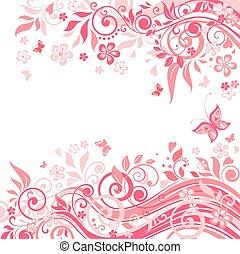 Floral pink card