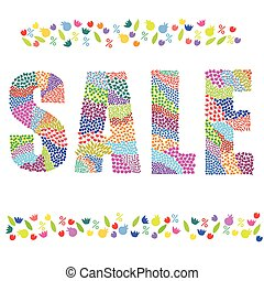 Sale word color vector graphic illustration design art
