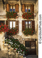 Italian windows - typical italian windows on a building...