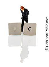 representative photo intelligence quotient - the letters iq...