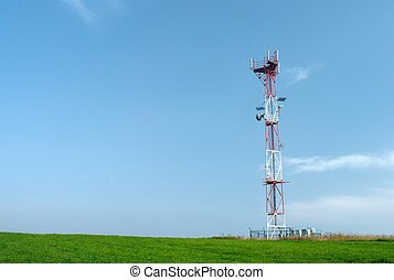 Telecom GSM tower - Telecom tower with a GSM reciever,...