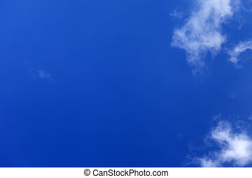 Beautiful blue sky with clouds at nice day - Beautiful blue...