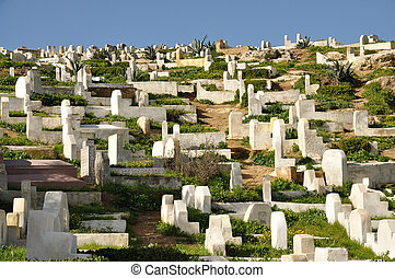Muslim cemetery in Fes, Morocco