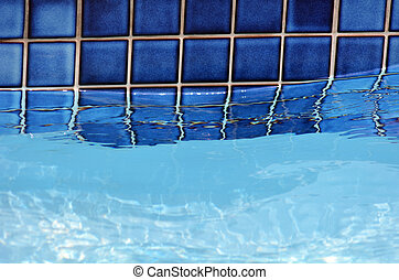 Poolside and water background - Swimming pool poolside and...