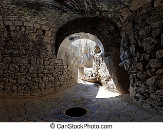 grotto - View from a grotto in the ancient Armenian temple...