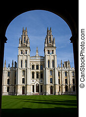 All Souls College, Oxford - Two towers of All Souls College,...