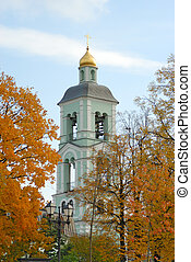 Belltower of orthodox russian church