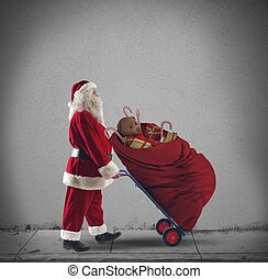 Santaclaus courier - Santaclaus as a courier with Christmas...