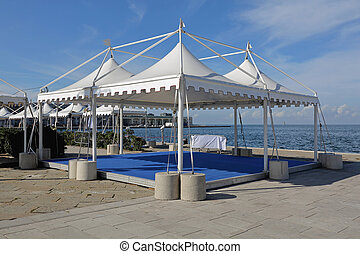 Party tents - White canopy tents for exibition event and...